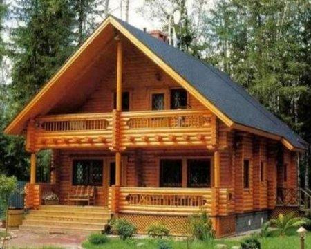 Особенности отделки внутренних помещений в домах из бруса
